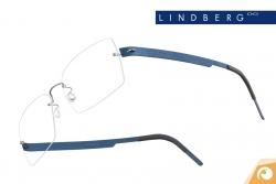 Lindberg Spirit - Titanbügel T601 in Dunkelblau in gebürsteter Optik  | Offensichtlich Berlin