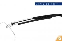 Lindberg Spirit - Bügelkombination T503 mit poliertem Titan und elegant gemustertem Acetat | Offensichtlich Berlin