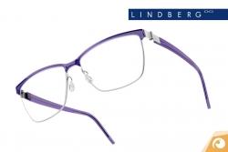 Lindberg Strip – Modell 9812 Kmbination von poliertem Titan und lila-transparentem Acetat | Offensichtlich Berlin