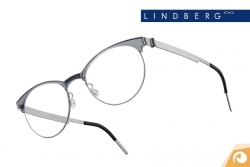 Lindberg Strip – Modell 9813 Retrodesin aus grauem Titan ud Acetat | Offensichtlich Berlin