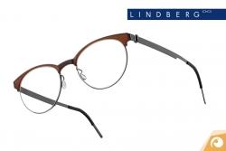 Lindberg Strip – Modell 9813 Materialkombination aus dunklem Titan und braunem Acetat | Offensichtlich Berlin