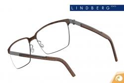 Lindberg Strip – Modell 9806 mit edel gemustertem Acetat in Holzoptik | Offensichtlich Berlin