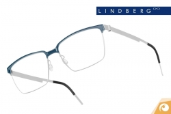 Lindberg Strip – Modell 9806 Kombination von mattem Titan und blaugrauem Acetat | Offensichtlich Berlin
