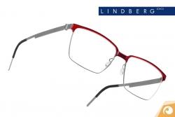Lindberg Strip – Modell 9806 Kombination von mattem Titan und kirschrotem Acetat | Offensichtlich Berlin