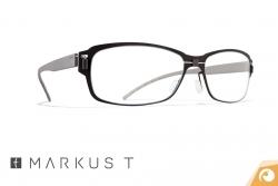 Titanbrille Markus T me2 238 in matt schwarz mit grauem Kunststoffbügel | Offensichtlich Berlin