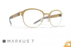 Modische, runde Markus T Titanbrille T240 in gold | Offensichtlich Berlin