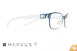 Markus T Titanbrille T253 in petrol mit transparenten Bügeln | Offensichtlich Berlin