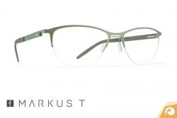 Feminine Markus T Titanbrille T336 in einem modischen Grün | Offensichtlich Berlin