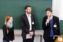 Lydia Herzog und Torsten Pirwitz stellen dem Publikum ihre Arbeit vor