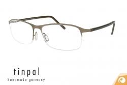 Moderne Tinpal Halbrand Brille aus Edelstahl Modell HR9-1 | Offensichtlich-Berlin
