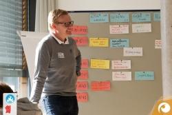 Robert Hollmann (Scitotec) beim erstellen des Sessionplans | Offensichtlich Berlin