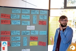 Peter präsentiert den finalen Sessionplan | Offensichtlich Berlin