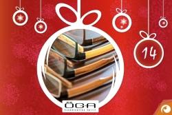 Hinter dem 14. Türchen gibt es heute ÖGA Holzbrillen mit 20% Rabatt | Offensichtlich Adventskalender