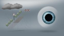 In der Dämmerung ist die Pupille weiter geöffnet. Die Tiefenschärfe nimmt ab.