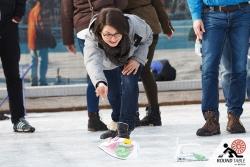 Auch die Ladys vom LC5 Berlin versuch ihr Glück | Bügelseisen Curling / Round Table 44 Berlin