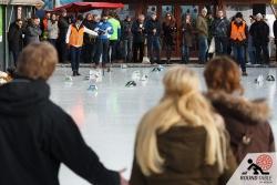 Bei 4 Spielern mit je zwei Bügeleisen wird es eng im House  | Bügelseisen Curling / Round Table 44 Berlin