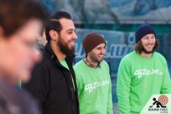 Wohl verdientes Gewinnerlächeln beim Team Jet Zip  | Bügelseisen Curling / Round Table 44 Berlin