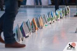Allerletzte Vorbereitung zur Siegerehrung | Bügelseisen Curling / Round Table 44 Berlin