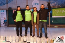 Der Sieger & Champion: Team Zip des 4. Berliner Bügelseisen Curling / Round Table 44 Berlin