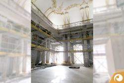 Noch ist der Saal für Kammermusik und Empfänge nicht ganz bereit | Staatsoper Berlin