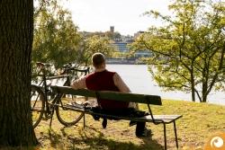 Stockholm tacking a sunbath