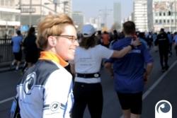 Doreen kurz vor dem Ziel - 34. Berliner Halbmarathon