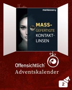 Individuelle Kontaktlinsen - Kontaktlinsen nach Maß - Markennovy Offensichtlich Adventskalender-2019 Aktionsrabatt