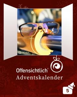 Meyer Brillenmanufaktur Titanbrillen SLS Brillen 3DDruckbrillen | Offensichtlich Adventskalender 2019