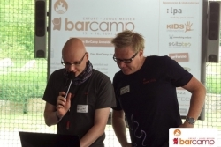 Tag 2 auf dem Barcamp mit Orga Robert Hollmann und Martin Fache