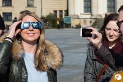 Selfie mit unserer Zeiss Sonnenfinsternisbrille