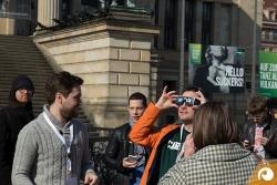 Impressionen von unserem Event zur Sonnenfinsternis auf dem Gendarmenmarkt