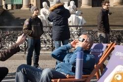 Ein Foto ganz bequem aus den Offensichtlich Liegestühlen zur Sonnenfinsternis 2015