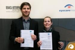 Die stolzen Absolventen Torsten Pirwitz & Lydia Herzog nun Bachelor of Science