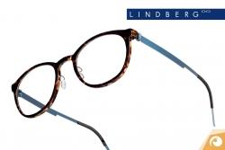 Lindberg  Brillen Acetanium Modell 1032 in Havannabraun mit eisblauen Bügeln | Offensichtlich Berlin