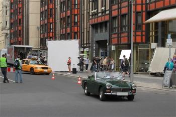 Dreharbeiten in der Jägerstraße / Friedrichstraße Berlin Mitte