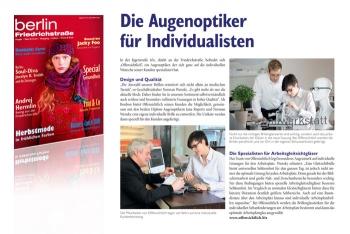 Offensichtlich - Ihr Augenoptiker im Friedrichstraßen Magazin
