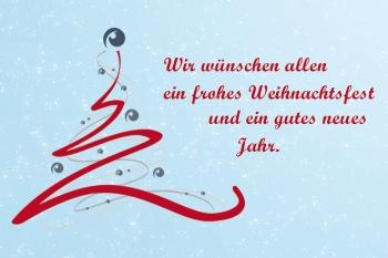 Wir wünschen allen ein frohes Weihnachtsfest und ein gutes neues Jahr