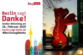 Berlin sagt Danke! ...und auch der Berlinalebär ist noch sehr fleißig