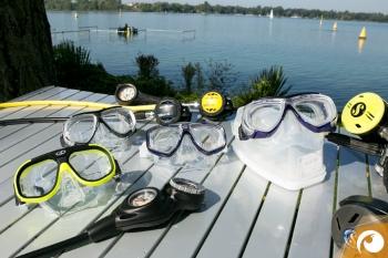 Tauchmasken im Test 2015 am Kulkwitzer See bei Leipzig